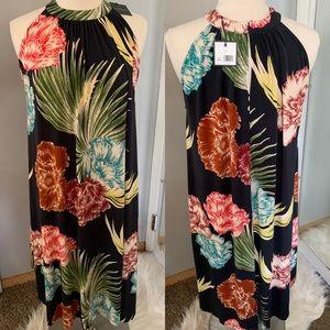 NWT Shift Dress Large Floral Flowers Madison Sz L